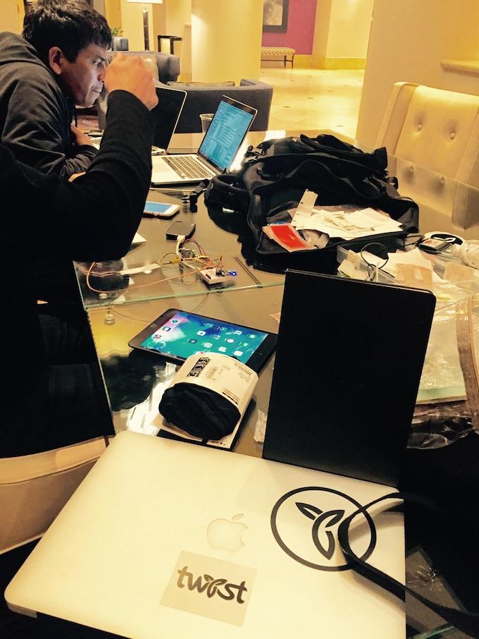 "Making bags ""smart"" is hard work!"