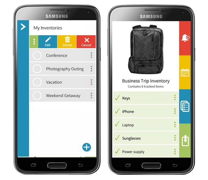 Easily create different lists depending on what type of trip you are taking. Then, keep track of your essentials in the app! Android or Apple compatible.