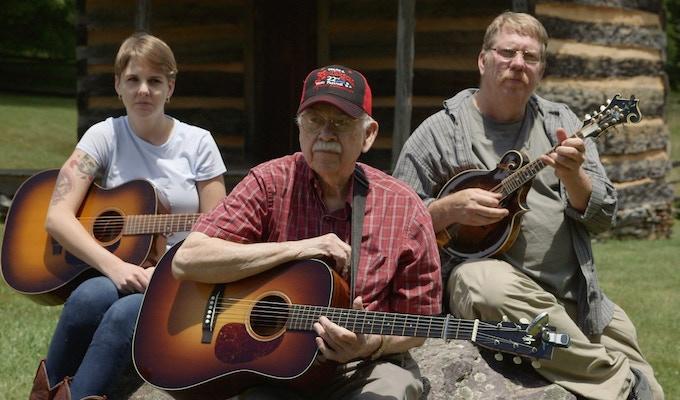 Three generations of talented musicians. Dori Freeman pictured here with her dad, Scott Freeman and grandpa, Willard Gayheart.