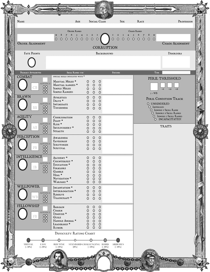 Click to preview the 3 page character sheet PDF