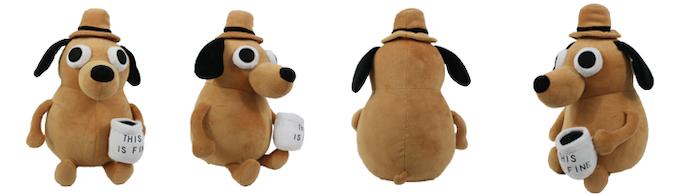 this is fine plush dog by kc green kickstarter