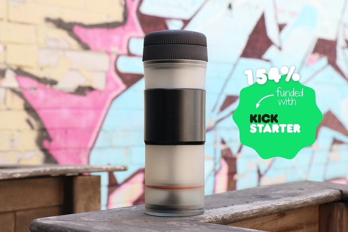All-in-one pressure brewer and travel mug designed for on the go coffee lovers. No overbrewing and no messy clean up. Missed our Kickstarter?