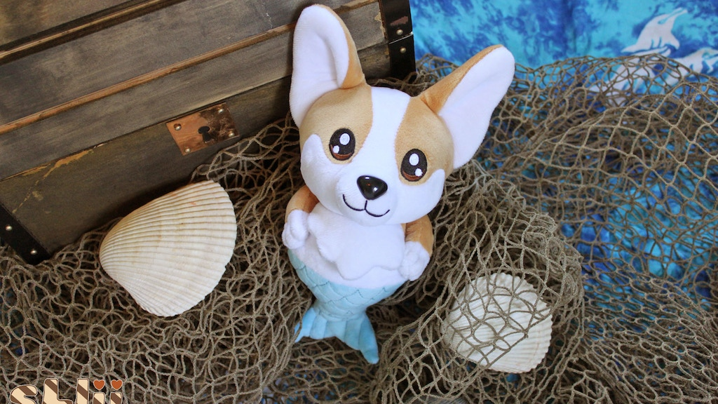 Corgi Mermaid Cute Plush Toys project video thumbnail