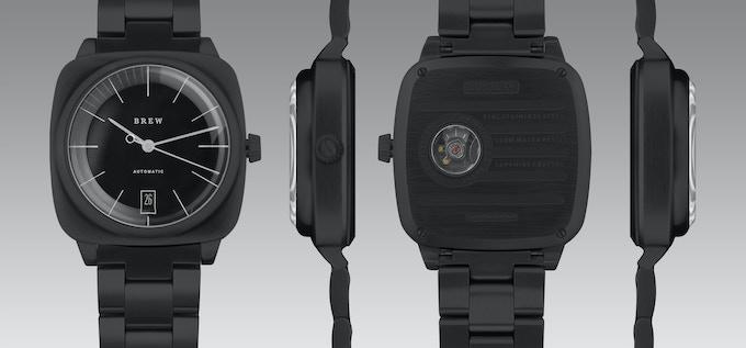 Black Automatic 38mm, Brew Watch