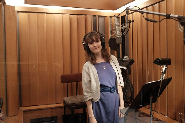 Abby Lyons recording at Capitol Records for the CalArts Jazz CD 25