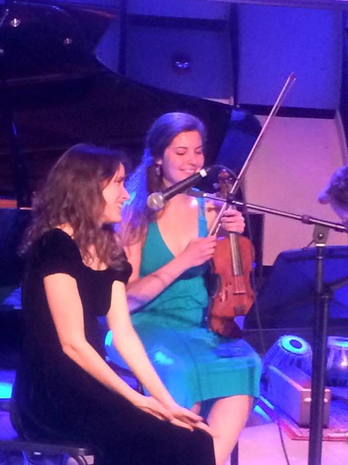 Abby Lyons and Rachel Iba performing at Abby's Graduate Recital