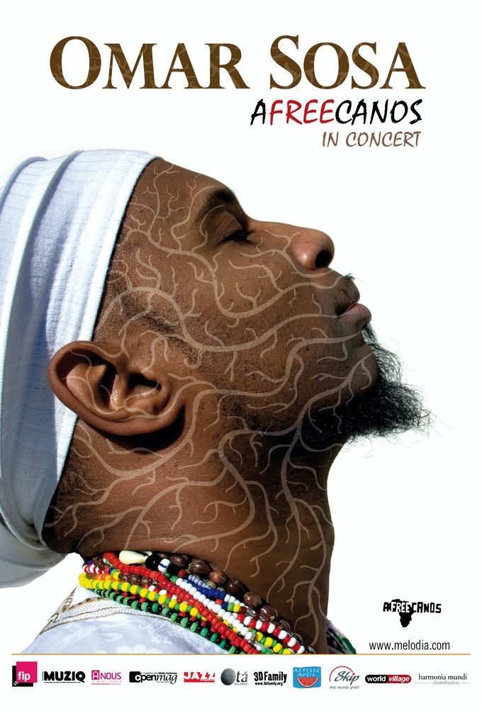 Choose the Afreecanos reward bundle and get an autographed promo poster featuring the dazzling artwork from Omar Sosa's 2008 album, AFREECANOS