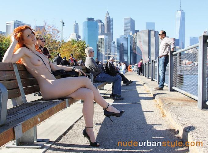 "Enjoying a nude rest in ""Nue York"""