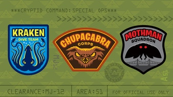 Cryptid Command 2: Mothman, Chupacabra & Kraken Patches