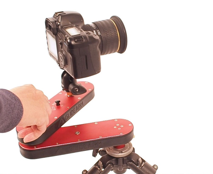 The Glidearm is a unique 'joint structure' camera slider with auto-panning and linear motion that extends up to 4X.