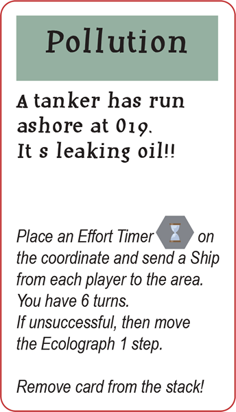 One of the 33 Round cards. Will the players who owns a harbor, agree upon cleaning up the oil ?