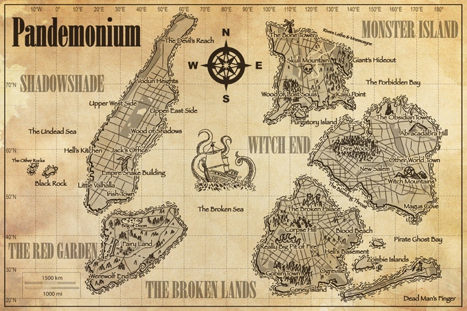 Map of Pandemonium (click map for larger version)