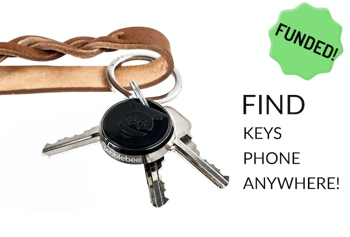 Find your misplaced keys or phone in seconds. Durable, long range, replaceable battery. With the Pebblebee® Finder - You cant lose!
