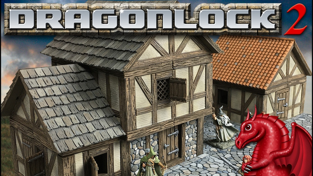 DRAGONLOCK 2: Fantasy Village Terrain for 3D Printers project video thumbnail