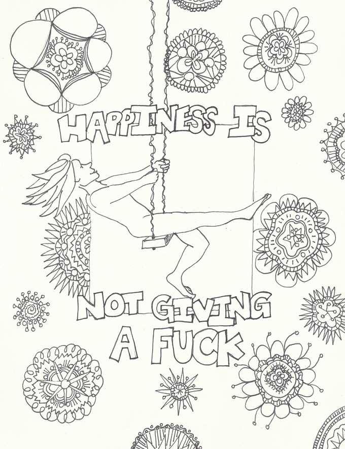 Image 2 of 3 for NSFW coloring page