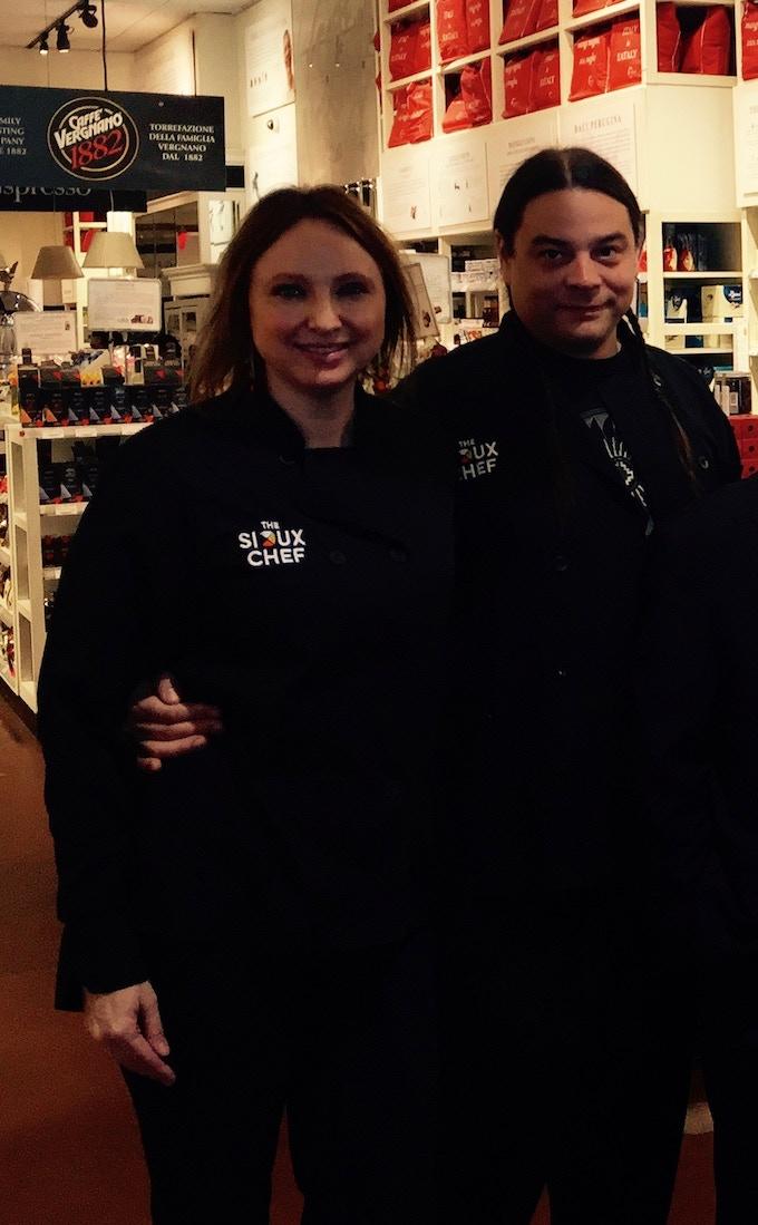 Owners Chef Sean Sherman and Dana Thompson