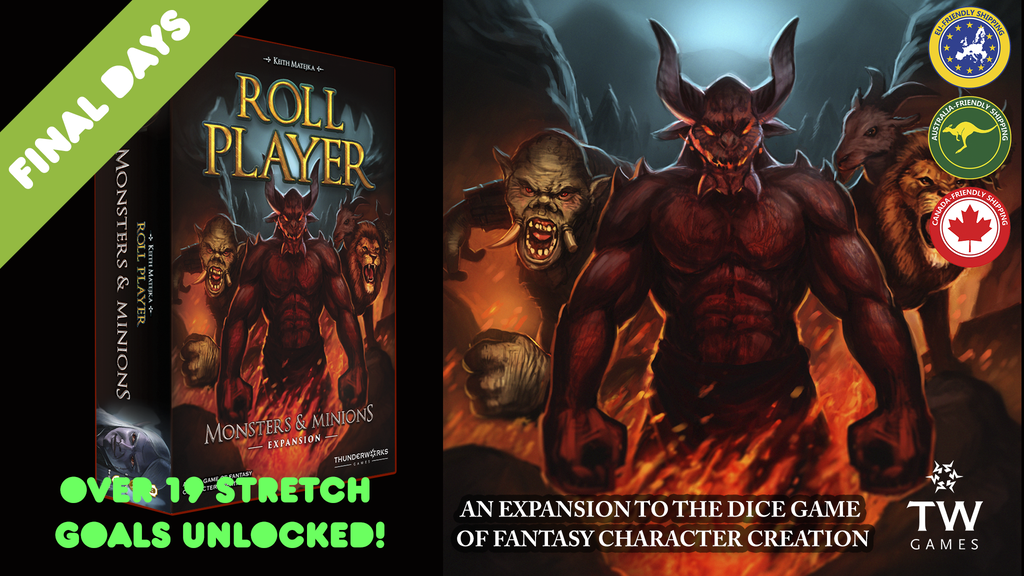 ROLL PLAYER - Monsters & Minions Expansion (+ Reprint) project video thumbnail