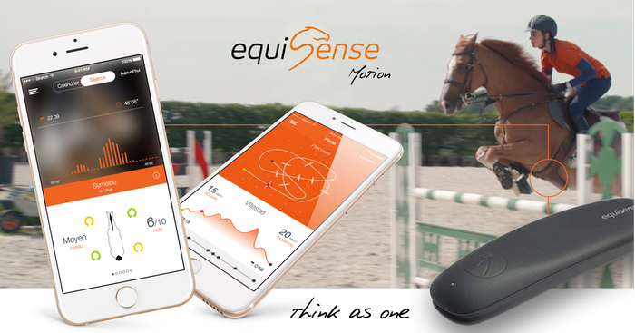 Equisense Motion is the first training sensor for equestrian sports that tracks the rider's training session and the horse's well-being.