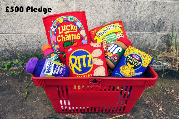 £500 Pledge Basket of Felt Groceries
