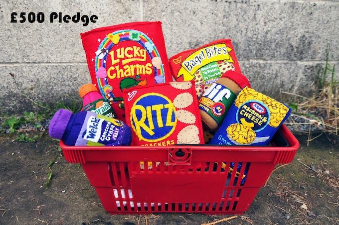 £500 Pledge Basket of Felt Groceries