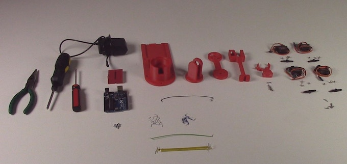 All the Parts in the Kit (Minus the Tools)