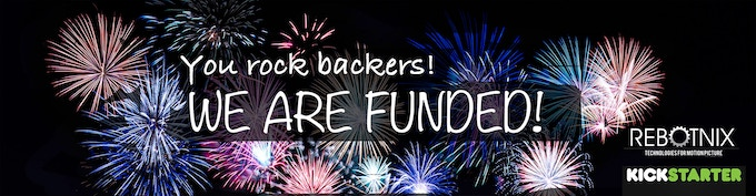 We are funded...