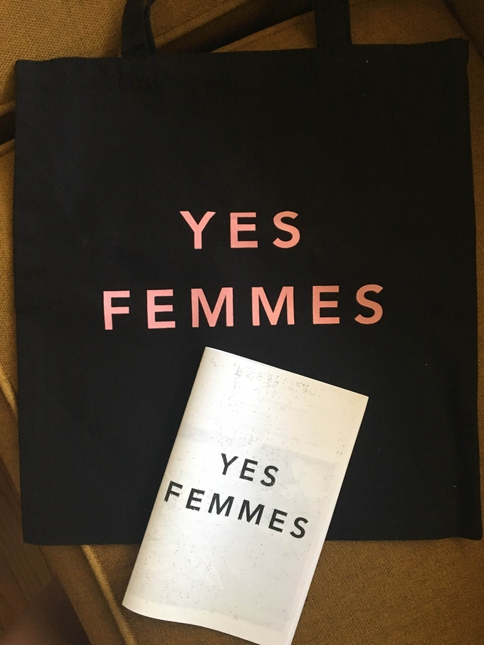 YES FEMMES tote + zine