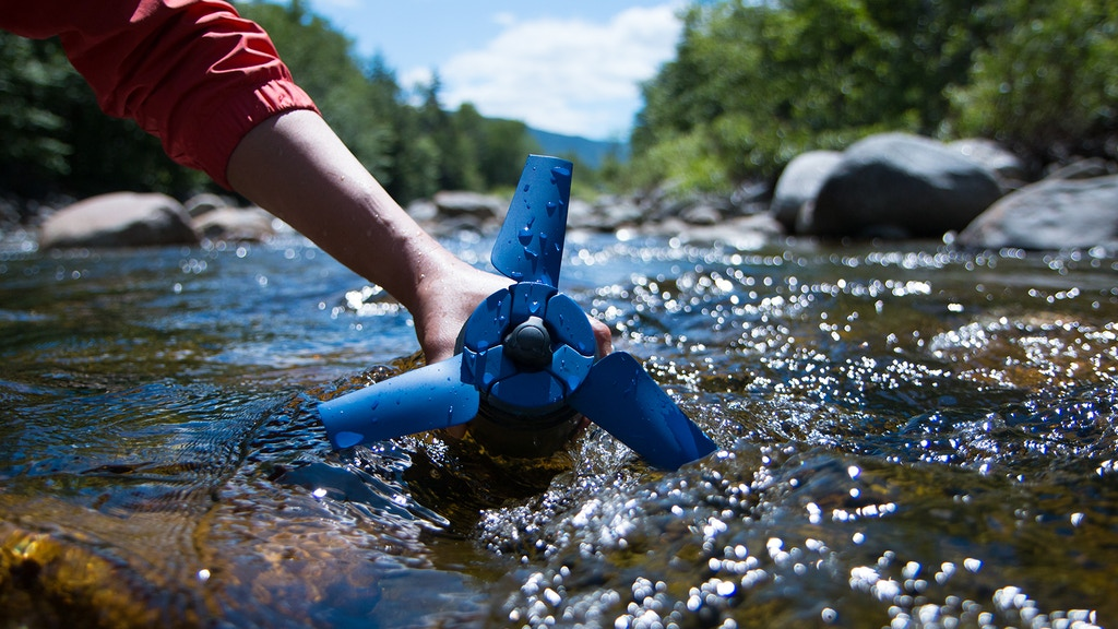 Estream: A portable water power generator fits into backpack project video thumbnail