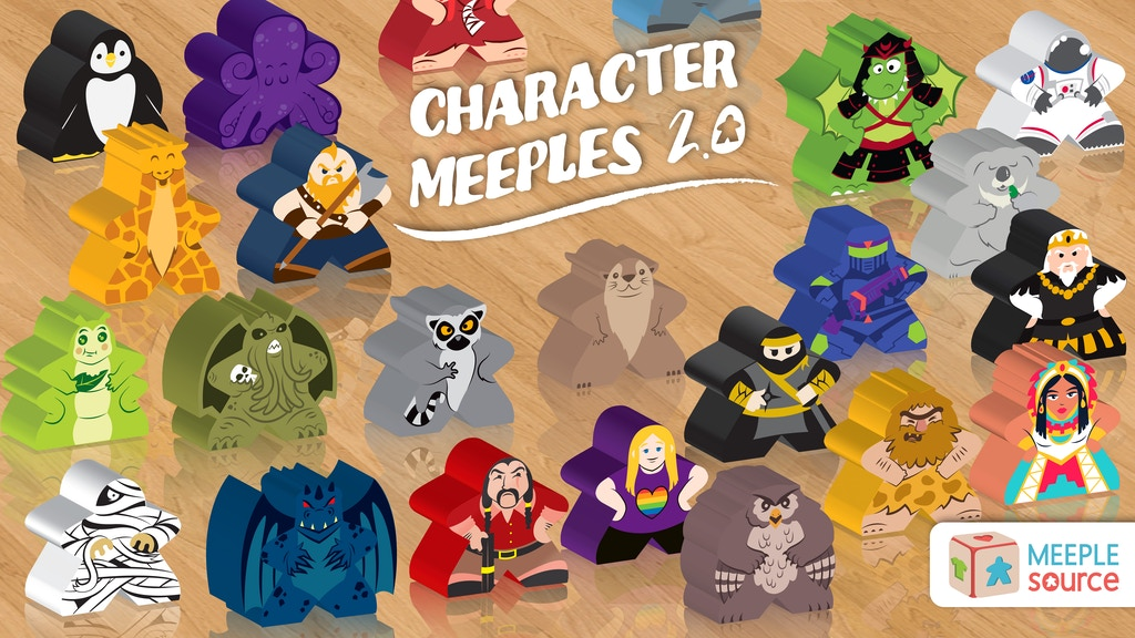 Character Meeples (2.0) - Upgrade Your Gaming Experience! project video thumbnail