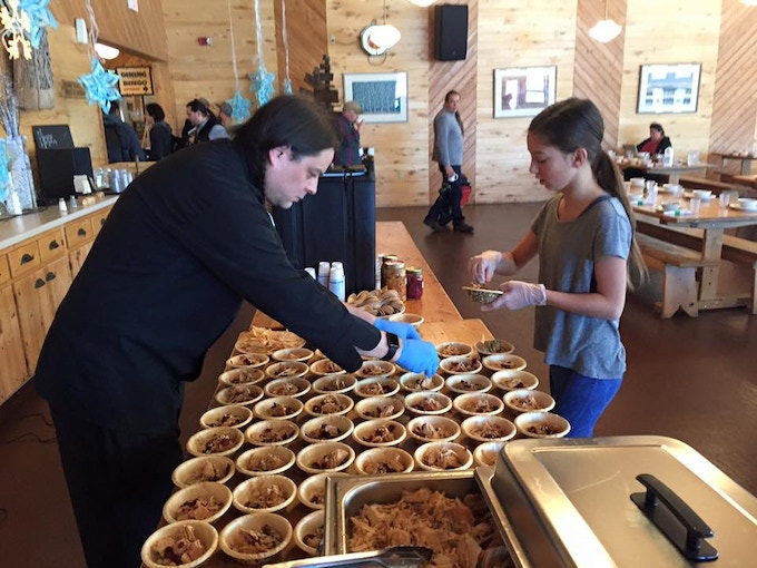 Sean and Maizy plating at an Indigenous Farming Conference...