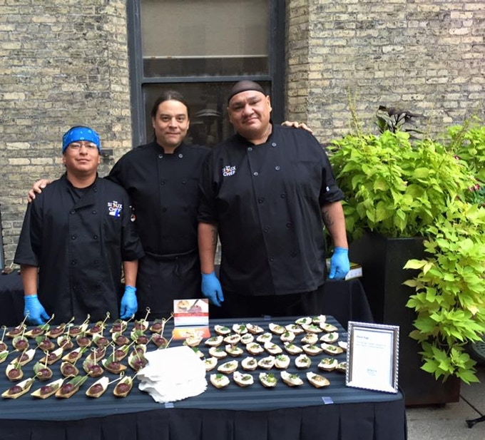 The Sioux Chef team members Chef Sean, Chef Brian, and Chef Michael...