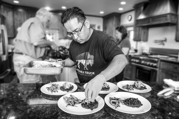 Chef de Cuisine Brian Yazzie Plating