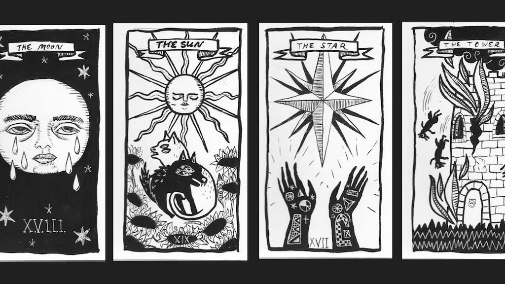 blindperson illustration custom tarot deck by Allison Garcia