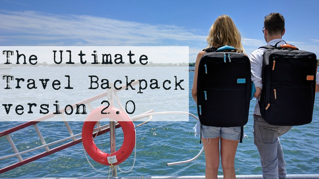 Ultimate Travel Backpack • Carry-on Backpack • Luggage • v.2 project video thumbnail