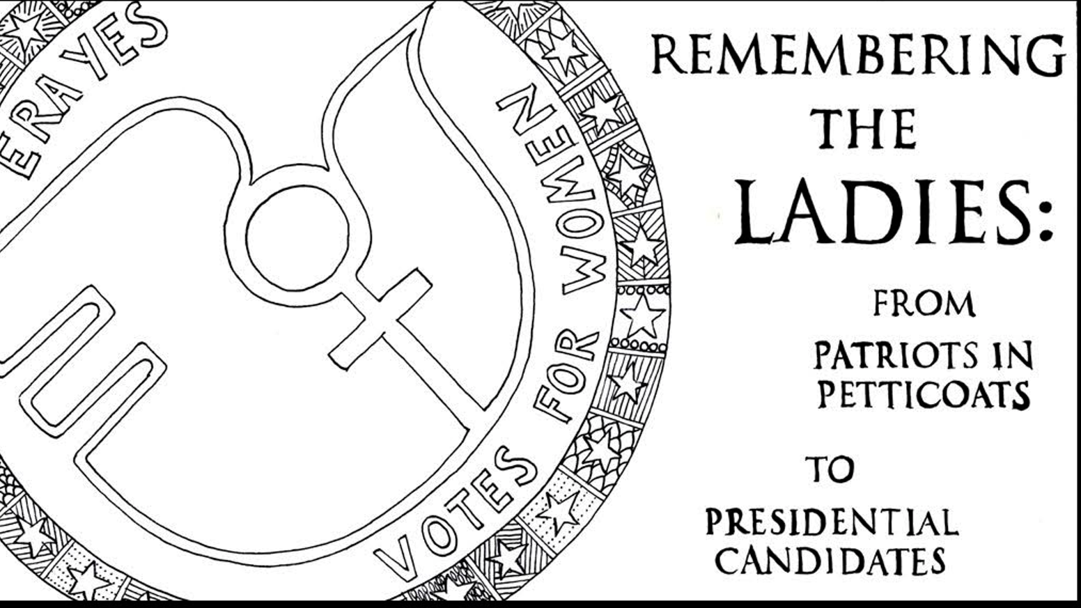Remembering the Ladies: A Coloring Book by Carol Simon