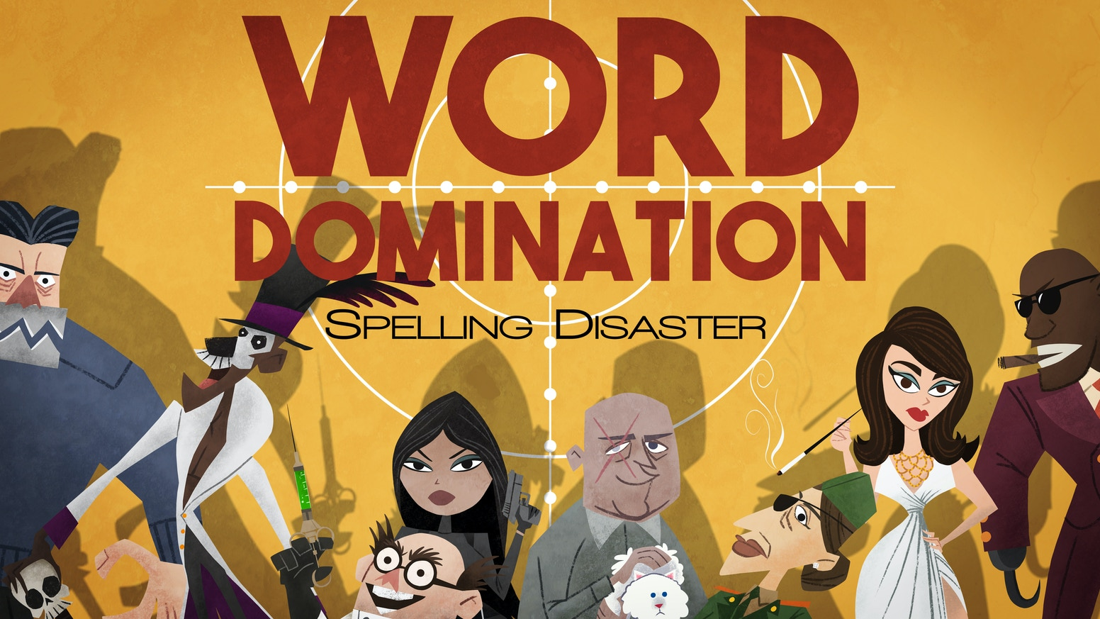 An award-winning word / area control game. Be the super villain. Spell massive words. Steal priceless artifacts. Take over the world!
