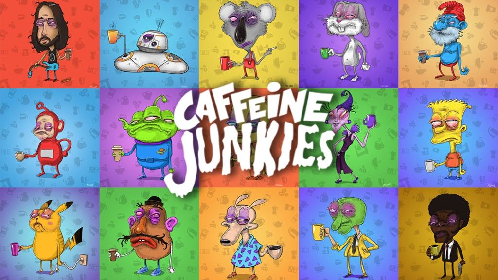 Cartoon characters before coffee. An Illustrated Art Book project video thumbnail