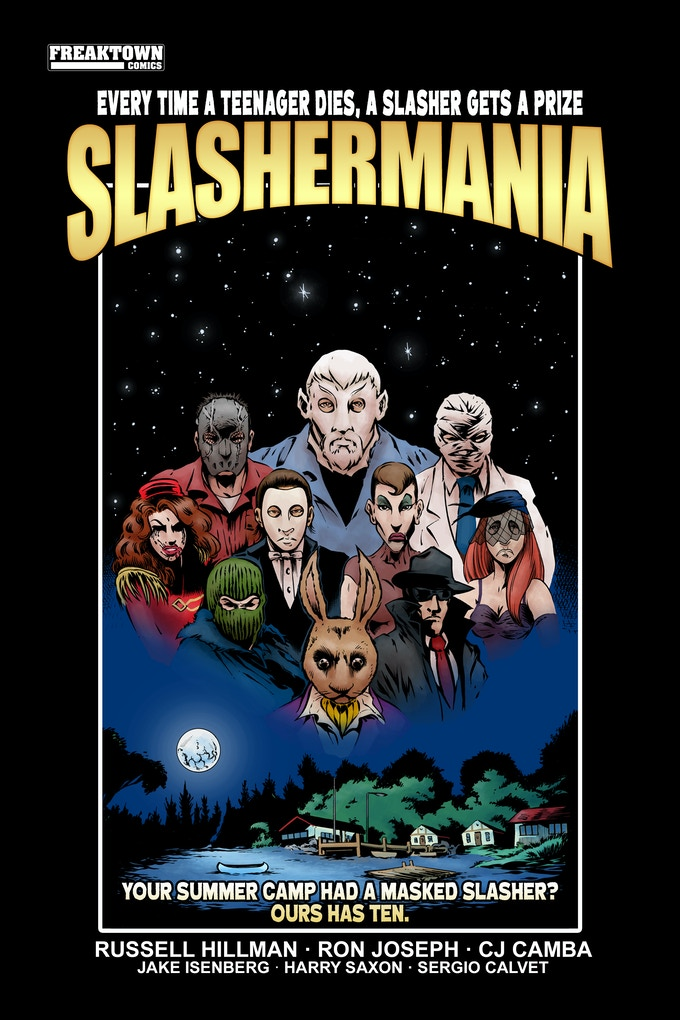 SLASHERMANIA - EPIC RETRO EIGHTIES HORROR GRAPHIC NOVEL by Russell