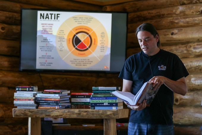 Chef Sean teaching about the Fundamentals of an Indigenous Food System...