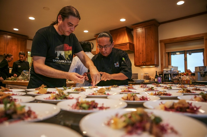 Chefs Sean and Brian Plating...