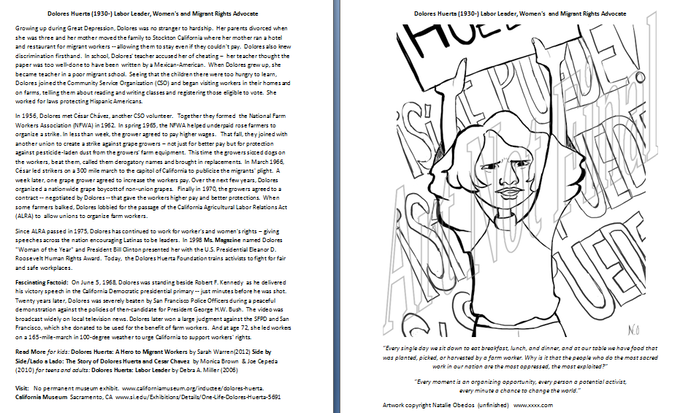 Dolores Huerta (art not final) -- Click to see full size