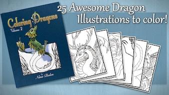 Coloring Dragons Vol. 2 Fantasy Coloring Book by Nina Bolen