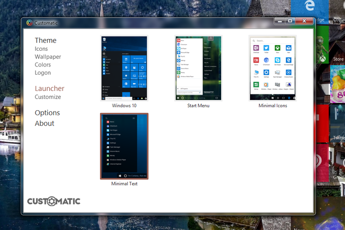 Choose from 3 different launchers or make your own using XML.