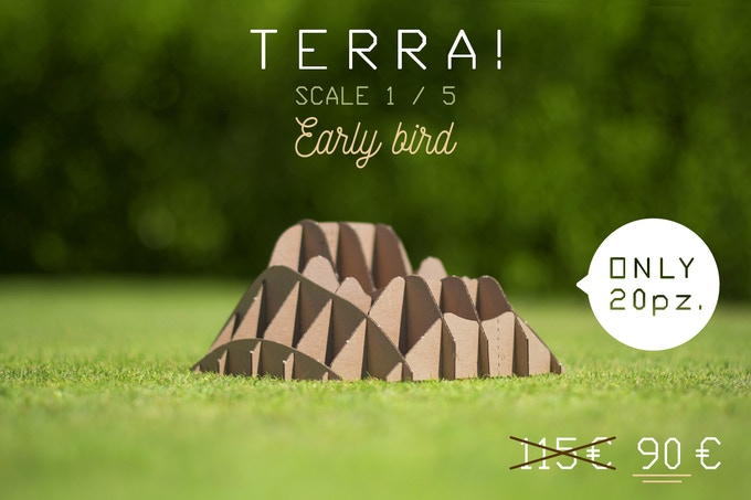 TERRA! miniatures, model scale 1:5 (dimensions in 8,97 x 8,97 x 4,33 / cm  22,8 x 22,8 x 11)