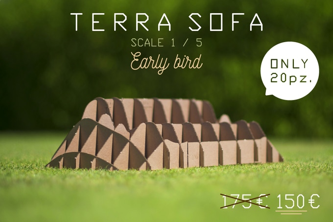 TERRA! SOFA miniatures, model scale 1:5 (dimensions in 8,97 x 16,14 x 4,33 / cm 22,8 x 41 x 11)