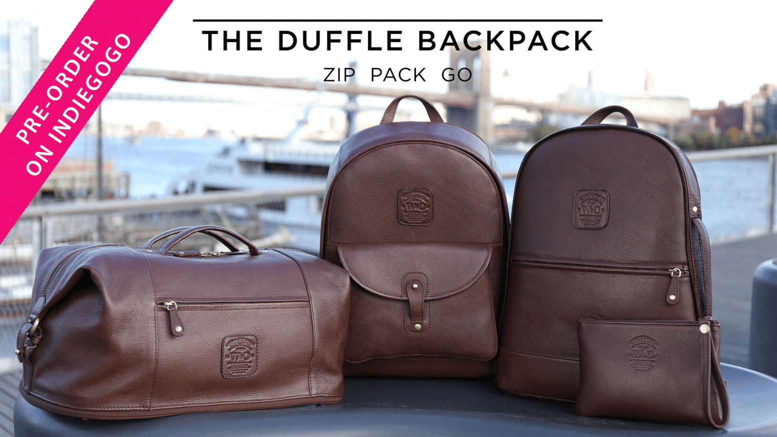 The Leather Duffle Backpack 6-in-1 Set || Zip Pack Go by