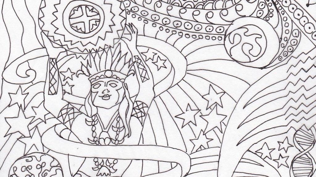 Planetary Gods & Goddesses Coloring Book: Astronomy & Myth
