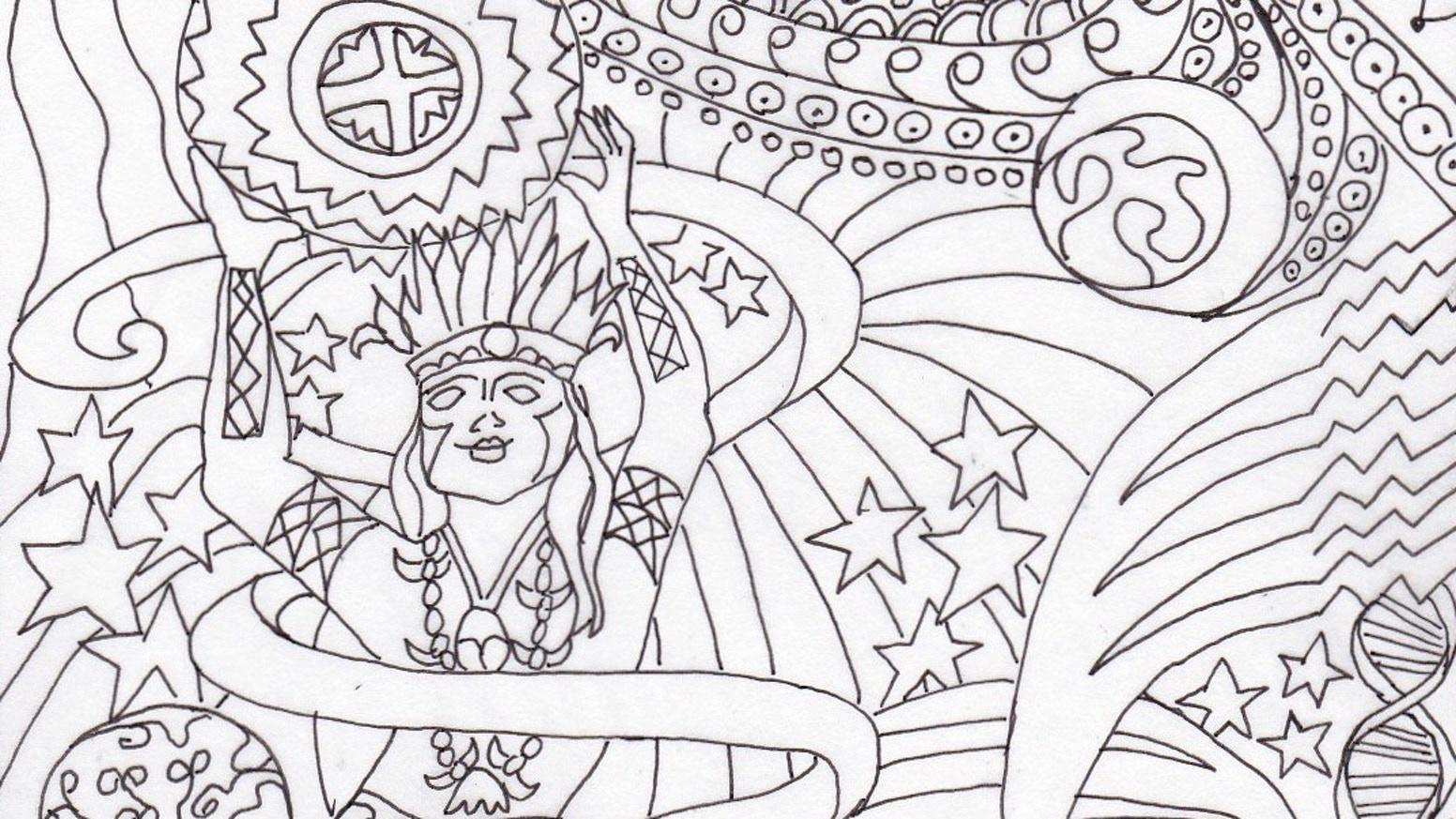 Planetary Gods & Goddesses Coloring Book: Astronomy & Myth by Kelley ...