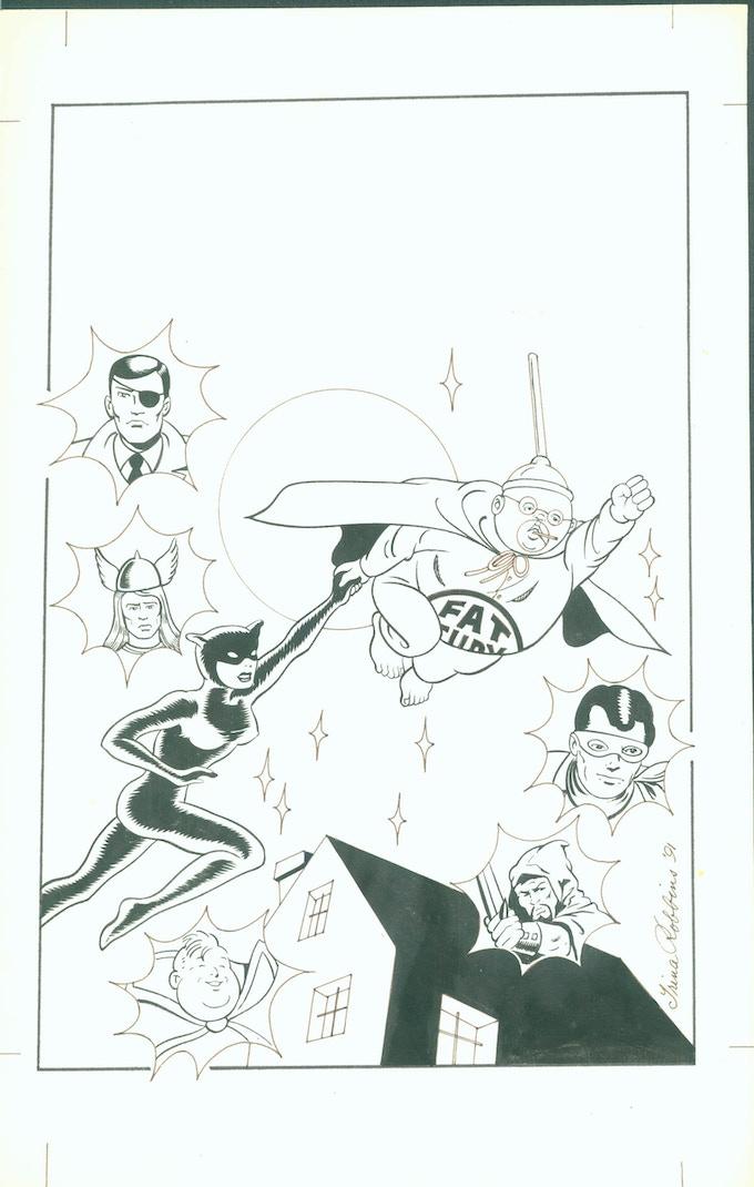 "Comic Book Cover, 10"" X 1""6"