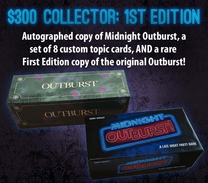 Midnight Outburst Not Your Dads Party Game By Hersch Games